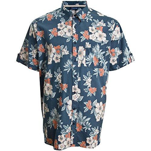 Espionage Kingsize SH235 Hawaiian S/S Shirt Deep Blue Deep Blue