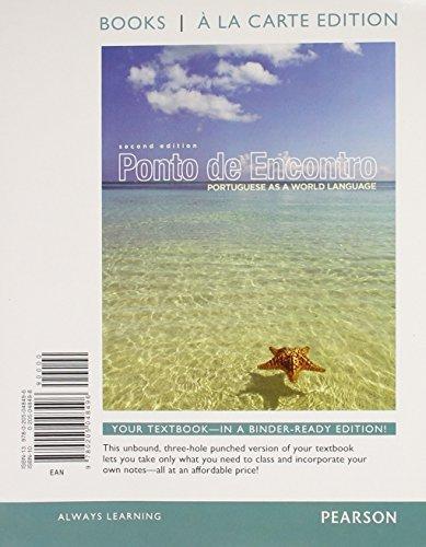 Ponto de Encontro: Protugueses as a World Language, Books a la Carte Plus MyPortugueseLab one semester with eText -- Access Card Package (2nd Edition) (World Languages) by Clemence de Jouet-Pastre (2013-11-20)