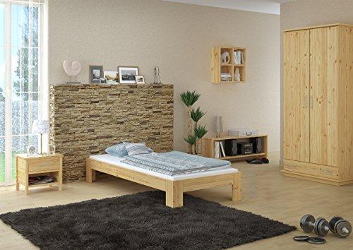 Erst-Holz® Futon, Einzel Bett 90 x 200 cm Kiefer massiv mit Rollrost 60.67-09
