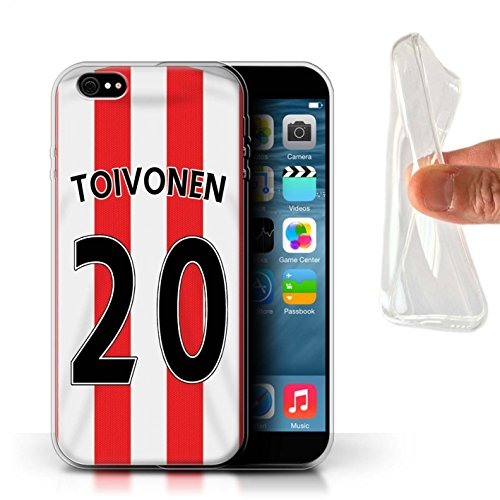 Offiziell Sunderland AFC Hülle / Gel TPU Case für Apple iPhone 6+/Plus 5.5 / Pack 24pcs Muster / SAFC Trikot Home 15/16 Kollektion Toivonen