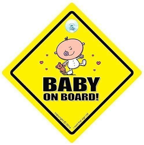 Baby On Board Sign Car, Baby on Board Zeichen, Unisex Baby on Board, Schild, Unisex Baby on Board Sign Car, NEU Bär Auto Schild, Baby, Auto Schild, Baby on Board, Baby Auto Schild, Bumper Aufkleber, Enkel KFZ-Hinweisschild