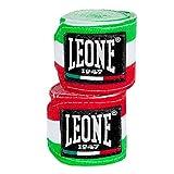LEONE 1947 AB705 Bande d'entraÃnement pour la boxe Longueur 4,5 m Tricolore Vert Blanc Rouge