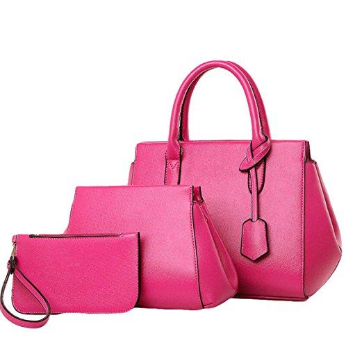 Damen Europa Und Die Vereinigten Staaten Einfache Dreiteilige Paket Paket Mode Messenger Bag Schultertasche Handtasche Red