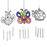 Suncatcher-Windspiele aus Acrylglas zum Aufhängen und Dekorieren - Insekten - Käfer - Biene - für Kinder zum Basteln (3 Stück)