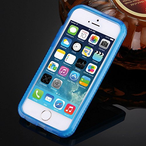 Wkae Case Cover Für iPhone 5 &5s &SE Hantel Textur TPU-Schutzhülle ( Color : Blue ) Dark Blue
