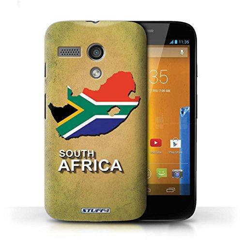 Kobalt® Imprimé Etui / Coque pour Motorola MOTO G (2013) / Italie/Italien conception / Série Drapeau Pays Afrique du Sud/Afrique