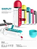 By Goank In Style Pill Organizer Water Bottle
