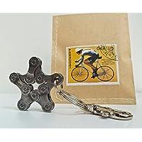 Upcycling Schlüsselanhänger Bike Star I Fahrrad Stern I Radsport Geschenk I
