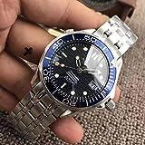 CWTCHY Marque de Hommes Montre Mécanique Automatique Noir Bleu Lunette en Céramique Cristal Saphir Étanche Gent Montres5