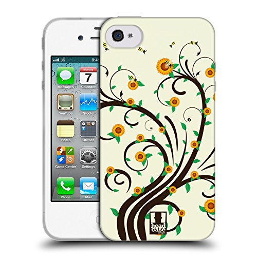 Head Case Designs Girasole Rami E Fiori Cover Morbida In Gel Per Apple iPhone 7 Plus / 8 Plus Girasole