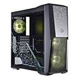 Cooler Master MB500 TUF Case per Desktop PC, 2 Ventole RGB da 120 mm, Nero