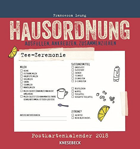 Hausordnung 2018 Postkartenkalender