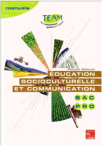 EDUCATION SOCIOCULTURELLE ET COMMUNICATION