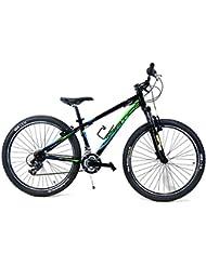 "Ciclismo de Bicicleta Aluminio 27,5"" ADRIATICA"" WING ""RCK-Shimano Cambio Antideslizante 18/V-Nero Azul/Verde"