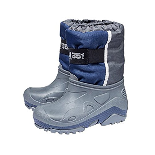 Kinder Schneestiefel Winterstiefel Warme wasserdichte stiefel Blau-Schwarz