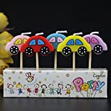 #7: Partysanthe Fancy Car Party Candle / Birthday Car Candle / Car Theme Birthday Candle / Cake Car Candle (5 Pcs Candle Set)