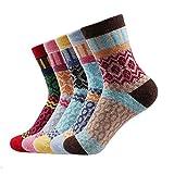 Winter Thermal Kaschmir SneakerSocken Frauen Warm Kaninchen Wolle Socken Damen Thicken Socken , Baumwolle Socken 5 Paar / Los