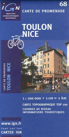 Carte touristique : Toulon - Nice