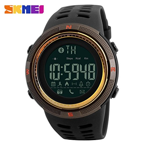 WatchLanspo SKMEI 1250 Waterproof Bluetooth Sport Smart Watch Phone Mate Android IOS Wristwatch Moment Of Beauty 250494915mm Gold