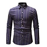 Amphia - Langärmliges HerrenhemdMens Spring Fashion Printed Casual Langarm Slim Shirts Tops Bluse