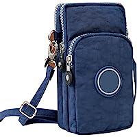 Ysoom Phone Tasche, Multifunktionale Handy Tasche 3 Schichten Crossbody Schulter Mini Handtasche wasserdicht Nylon…