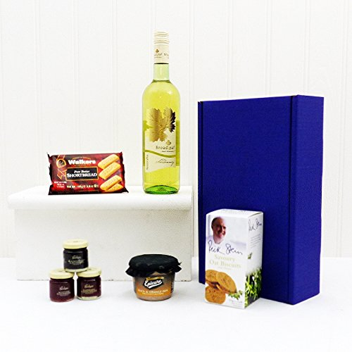Broadleaf White Wine and Nibbles Gift Box - present for Father's Day or Birthday