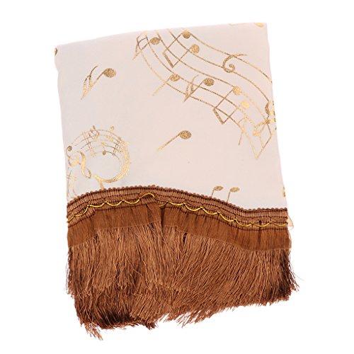 Sharplace Elegante Staubdicht Schutzhülle Abdeckung Tuch für Klavier, Halb Abdeckung Weiche Hülle