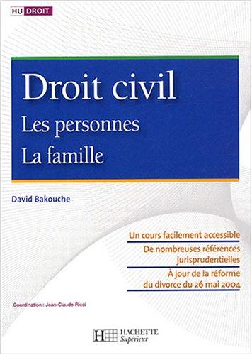 Droit civil : Les personnes, La famille