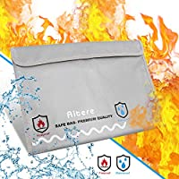 Aitere Fireproof Safe Document Wallet Fireproof Cover for Documents Non-itching, Silicone Coated Fire and Water Resistant Wallet Fireproof Safe for Money Documents Jewellery