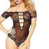 Sexy Lingerie, Anglewolf Women Sexy Bow Lace Racy Underwear Spice Suit Temptation Underwear (M, 1 Black)