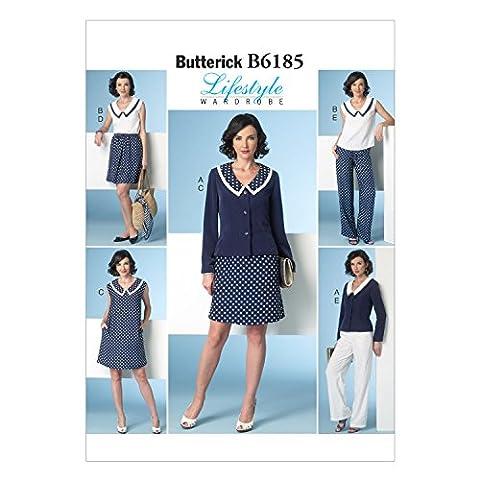 Veste Studio - Butterick Patterns 6185 Taille E5 14/16/18/20/22 Patrons