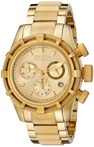 Invicta 12461 40mm Gold Steel Bracelet & Case flame fusion Women's Watch