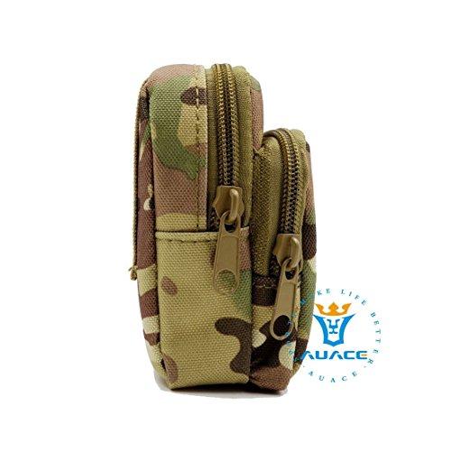 Multifunktions Survival Gear Tactical Beutel MOLLE Tasche-Epauletten Tasche, Outdoor Camping Tragbare Travel Bags Schlüssel mümzbörse CP