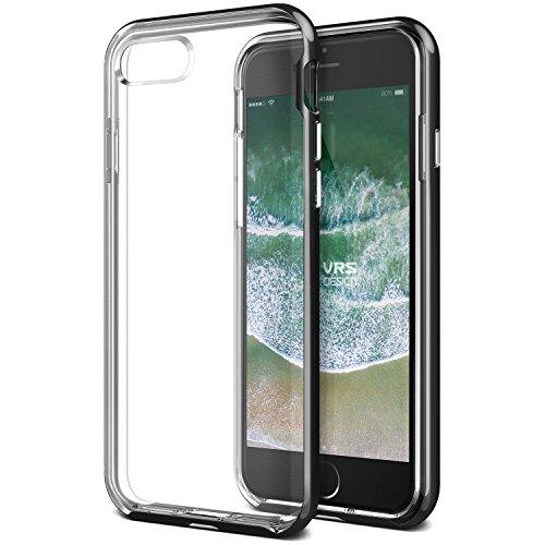 VRS Design New Crystal Bumper - Cover Ultra-Sottile trasparente in Morbido TPU per iPhone 7/8, Oro lucido (Shine Gold) Nero