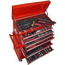 vidaXL Werkstattwagen Werkzeugwagen Gefüllt Werkzeugkiste über 250 Werkzeuge NEU
