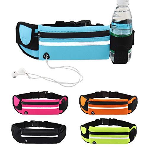 Fortitude Sports Cintura da Corsa con portacellulare | Marsupio da Corsa per telefoni, Cuffie e Borraccia | Cintura da Corsa Impermeabile per Donna e Uomo (Verde)