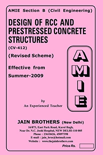 AMIE Design of RCC and Prestressed Concrete Structures CV 412 Solved Paper