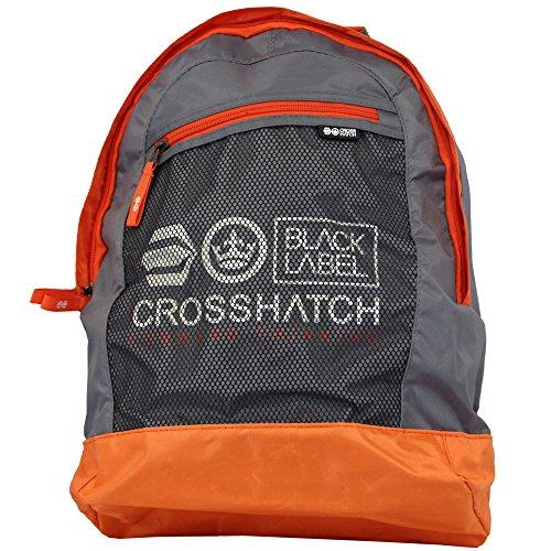 Herrentasche Crosshatch Damen Rucksack Schule Arbeit Reise Designer Freizeit GRAU - RETIKULUM