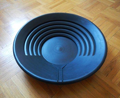 Goldwaschpfanne von Lapis aus schwarzem Kunststoff, Durchmesser: 38 cm – Gold Pan by Lapis, black plastic, diameter: 38 cm. - 2
