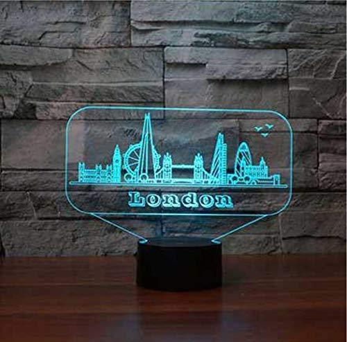 3D Led Nightlight London Gebäude Modellierung Touch Allmähliche Änderung 7 Farben Tischlampe Kinder Nacht Schlaf Beleuchtung Usb Geschenke (Halloween Dekoration London)