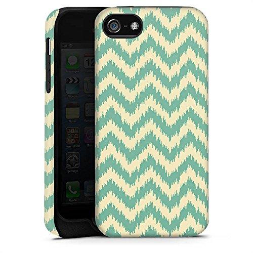 Apple iPhone X Silikon Hülle Case Schutzhülle Zickzack Muster Sommer Tough Case matt