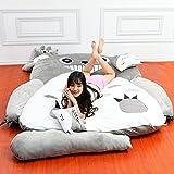 Plush Totoro Sleeping Bag Sofa Bed Double Foam Beanbag Cartoon Mattress Cushion for Kids Tatami Bed Xmas Gift (180CM * 110CM)