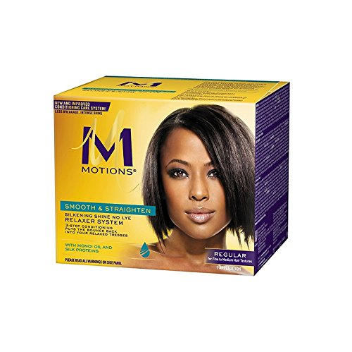 Silkening Shine Relaxer System (Motions Smooth and Straighten Silkening Shine No-Lye Relaxer System by Motions)