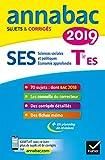 Annales Annabac 2019 SES Tle ES spécifique & spécialités - Sujets et corrigés du bac Terminale ES