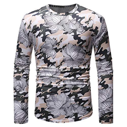 TWISFER Herren 3D Drucken Pullover Printed Sweatshirt Langarm Sweatshirts Retro Party Elegant Tops Bluse -