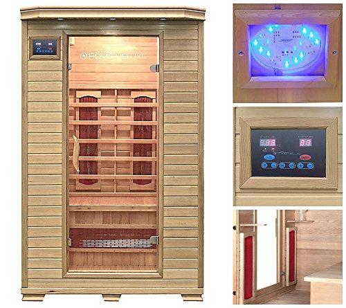 Home Deluxe Redsun M Infrarotsauna  inklusive Keramikstrahler viele Extras und Zubehör