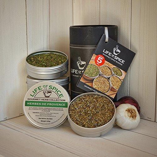 Life of Spice Gourmet Herb Gift Collection - Confezione Regalo di 5 Miscele di Erbe Life of Spice (20 g/14 g l'una)