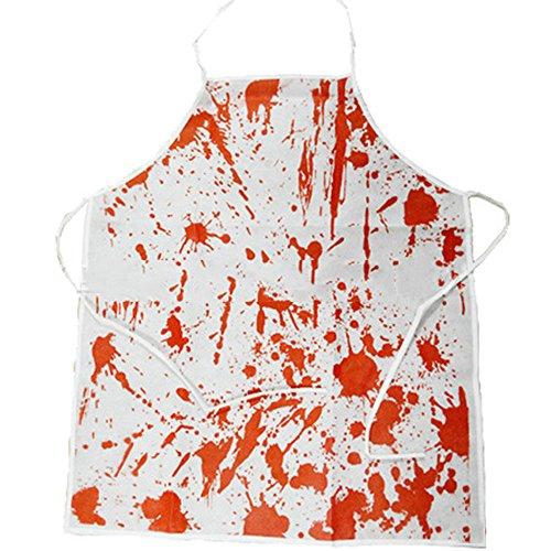 Himki Blutige Schürze Halloween Kostüme für Erwachsene Blutbad Kochschürze (80's Halloween Kostüme Männer)
