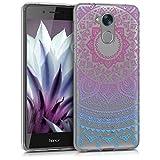 kwmobile Coque pour Huawei Honor 6C – En silicone TPU coque protectrice pour portables – Étui translucide en bleu fuchsia transparent
