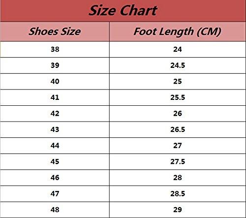 YiJee Homme Classique Style Anglais Chaussures Grande Taille Loisir Chaussure Bleu Ciel